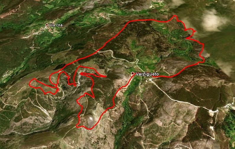 fisgas do ermelo mapa 100Atalhos   Fisgas de Ermelo (Parque Natural da Serra do Alvão) fisgas do ermelo mapa
